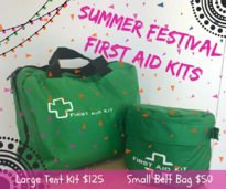 Summer Festival First Aid Kits - $50.00 - $125.00Great for camping and festival fun