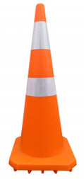 Nikki Plastics orange road cone 900mm