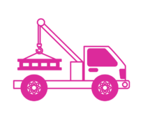 Truck mounted crane icon