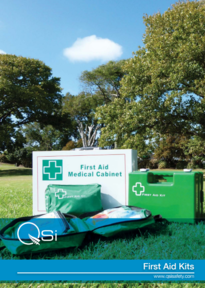 first aid kits in a field