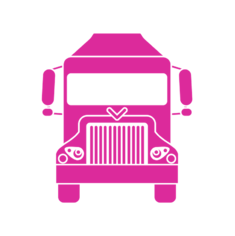 pink Truck Icon
