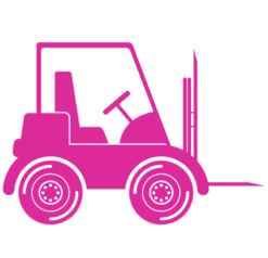 pink forklift icon