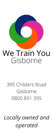 We Train You Gisborne logo and contact details