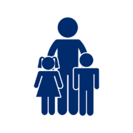 Adult and children icon